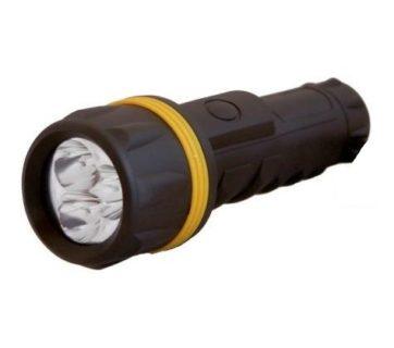 Linterna goma 4AA-- -6LEDs--L: 15cm--estanca