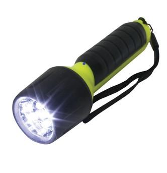 Linterna ABS -4xAA -5LEDs- L:14 cm-- apta buceo