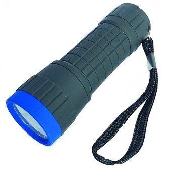 Linterna goma 3xAA– -14 LEDs- L: 10cm-- estanca
